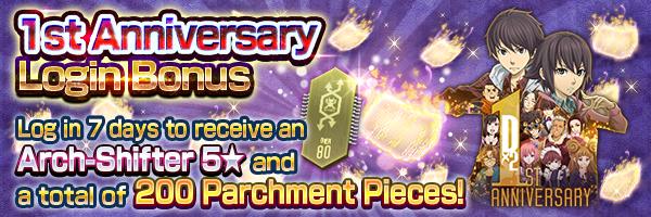 [1st Anniv.] 1st Anniversary Login Bonus Coming Soon!!