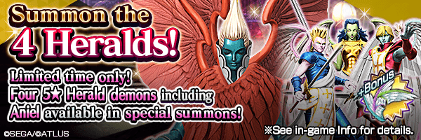 A chance to summon 5★ Gabriel, Raphael, Uriel and Aniel! Judgement Summons Incoming!