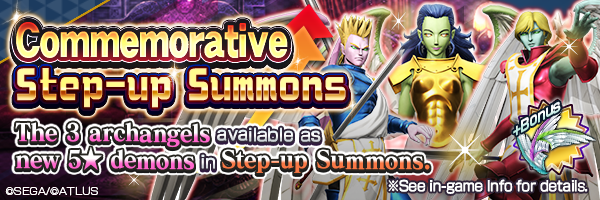 Get the new 5★ Herald demons! Special Commemorative Step-up Summons & guaranteed summons incoming!