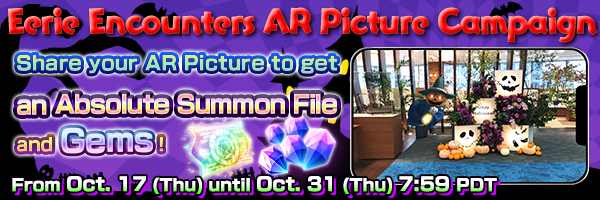 Trick or Treat! Eerie Encounters AR Picture Campaign Now On!