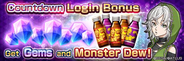 Get 500 Gems on day 7! Countdown Login Bonus!