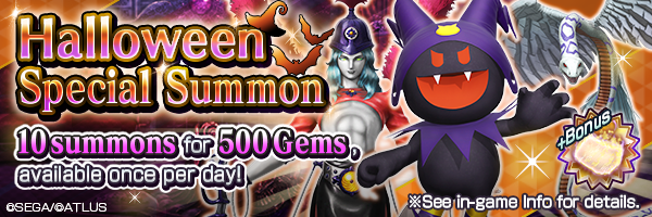 Get demons at a great value with the Halloween Special Summon! 5★ guaranteed Reaper Absolute Summon also Now On!