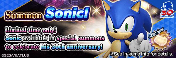 [6/21 4:15 Update] 30th Anniversary! Sonic Summon Incoming!