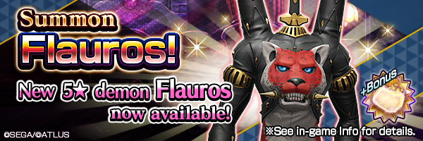 Summon the new 5★ demon Flauros! Available in special summons!