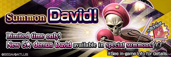 Summon the new 5★ demon David! David Summon Incoming!